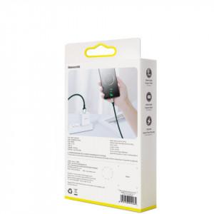 Cablu USB-C Baseus Cafule, VOOC, QC, 5A, 2m (verde)