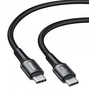 Cablu USB-C Baseus Halo, QC 3.0, PD 2.0, 60W, 3A, 1m (negru)