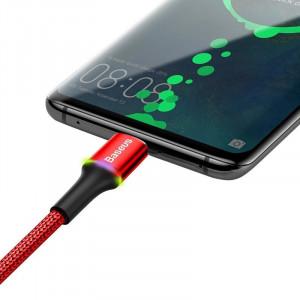 Cablu USB-C cu iluminare LED Baseus Halo 3A 0,5m (rosu)