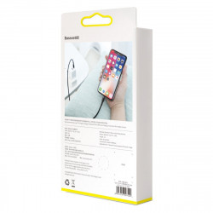 Cablu USB-C la Lightning PD Baseus Cafule, 18W, 1m (negru-rosu)