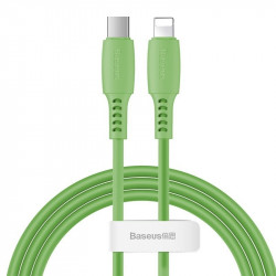 Cablu USB-C - Lightning Baseus Colourful, PD, 18W, 1.2m (verde)