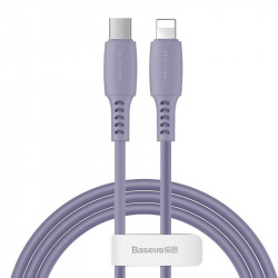 Cablu USB-C - Lightning Baseus Colourful, PD, 18W, 1.2m (violet)
