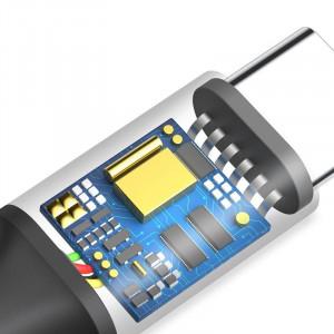 Cablu USB la USB-C cu iluminare LED Baseus Rapid 2m 2A (negru)
