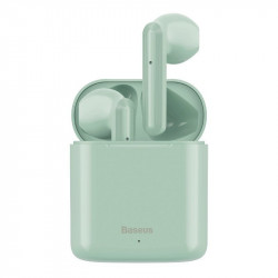 Casti wireless Baseus Encok W09 TWS Bluetooth 5.0 (verde)