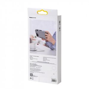Husa silicon Baseus GS06L pt Nintendo Switch Lite + joystick pad silicon (alb-negru)