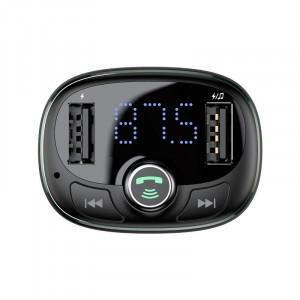Modulator FM auto Baseus Bluetooth USB microSD (albastru)
