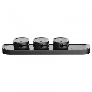 Organizator cabluri Baseus Peas, magnetic (negru)