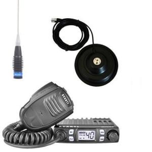 Pachet statie radio CB Avanti Micro (versiunea PRO) cu antena radio ML 70 si baza magnetica