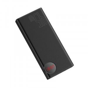 Powerbank 20000mAh cu display Baseus Mulight 2x USB, QC 3.0, PD, 45W (negru)