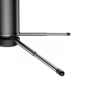 Selfie stick, trepied Bluetooth Baseus (negru-rosu)