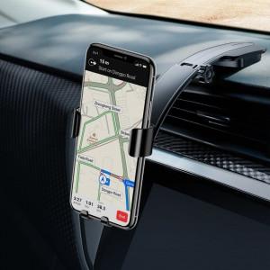 Suport telefon auto gravitational Baseus Metal Age pt bord (negru)