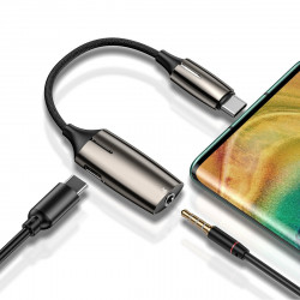 Adaptor Audio Baseus L60S, USB-C la Mini Jack 3.5mm i USB-C, 2A