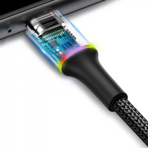 Cablu lightning cu iluminare LED Baseus Halo 2A 3m (negru)