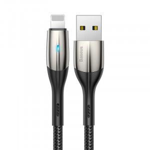 Cablu Lightning cu LED Baseus Horizontal 1m 2.4A (negru)