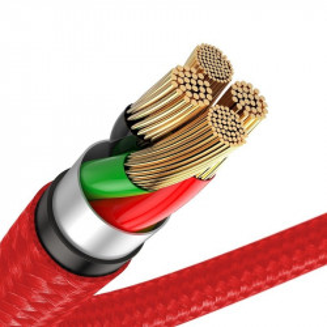 Cablu Lightning cu LED Baseus Horizontal 2m 1.5A (rosu)