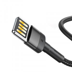 Cablu Lightning USB (USB bilateral) Baseus Cafule 2,4A 1m (gri-negru)