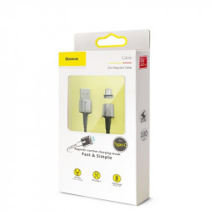 Cablu magnetic USB-C Baseus Zinc 2A 2m (negru)