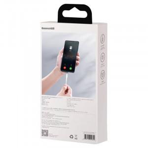 Cablu magnetic USB - USB-C Baseus Zinc 3A 1m (alb)