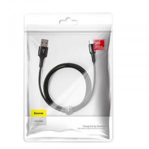 Cablu micro USB cu iluminare LED Baseus Halo 3A 0.25m (negru)