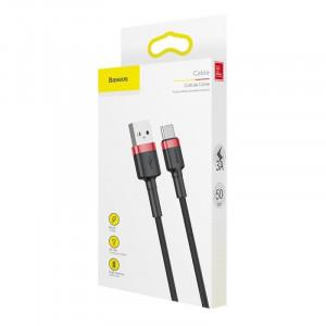 Cablu USB-C Baseus Cafule 2A 3m (rosu-negru)