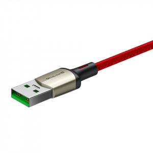 Cablu USB-C Baseus Cafule, VOOC, QC, 5A, 1m (rosu)