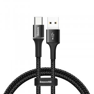 Cablu USB-C cu iluminare LED Baseus Halo 3A 0,5m (negru)