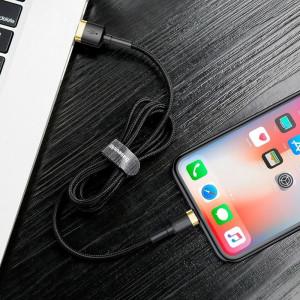 Cablu USB Lightning Baseus Cafule 2.4A 1m (auriu-negru)