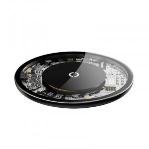Incarcator wireless Baseus Simple 10W Lightning (transparent)