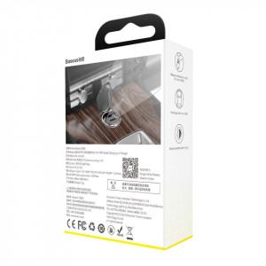 Mini incarcator auto Baseus Tiny Star USB-C, QC 4.0+, PD, 30W (gri)
