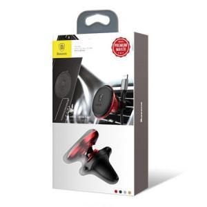 Suport Auto Baseus 360° pentru sistemul de ventilatie, Roșu