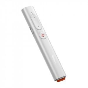 Telecomanda cu aratator laser portocaliu Baseus Orange Dot, cu baterii (alb)