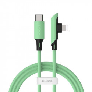 Cablu 90 grade USB-C - Lightning Baseus Colourful, PD, 18W, 1.2m (verde)