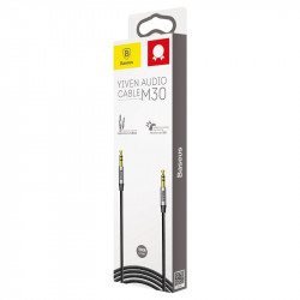 Cablu audio mini jack 3,5mm AUX Baseus Yiven 0,5m (negru-argintiu)