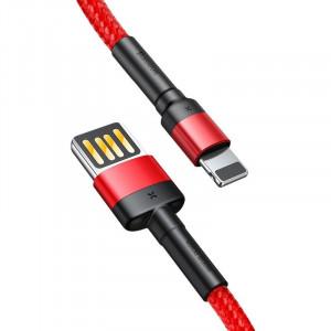 Cablu Lightning USB (USB bilateral) Baseus Cafule 1,5A 2m (rosu)