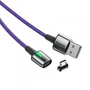 Cablu magnetic micro USB Baseus Zinc 1.5A 2m (violet)