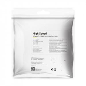 Cablu retea Baseus High Speed, Ethernet RJ45, Gigabit, Cat.6, 3m (negru)