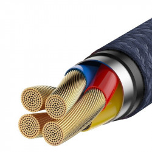 Cablu USB-C Baseus Cafule Huawei SuperCharge, QC 3.0, 5A 1m (albastru-auriu)