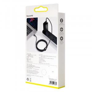 Cablu USB-C Baseus Cafule, QC 3.0, PD 2.0, 100W, 5A, 2m (gri-negru)