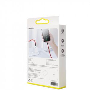 Cablu USB-C Baseus Cafule, VOOC, QC, 5A, 2m (rosu)
