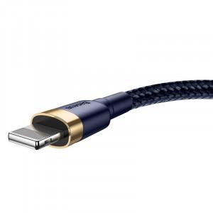 Cablu USB Lightning Baseus Cafule 2.4A 1m (auriu-albastru)