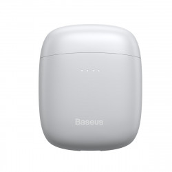 Casti wireless TWS Baseus Encok W04 Pro, incarcare wireless, Bluetooth 5.0 (alb)