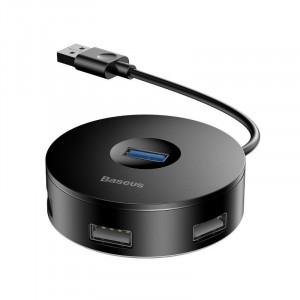 Hub 4in1 USB la USB 3.0 + 3x USB 2.0 Baseus 15cm (negru)