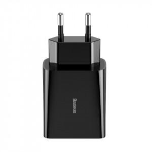 Incarcator retea Baseus Speed Mini, PD + QC 3.0 18W (negru)