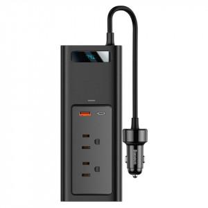 Invertor auto de bricheta Baseus 150W, 110V, US/JP (negru)