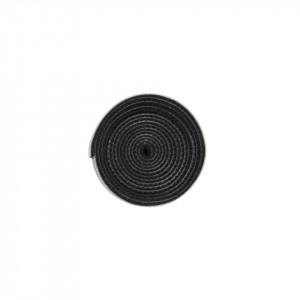 Organizator cabluri Baseus Colourful Circle Velcro Straps 1m (negru)