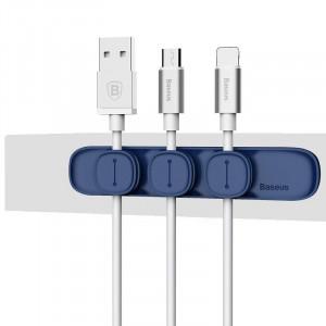Organizator cabluri Baseus Peas, magnetic (albastru)
