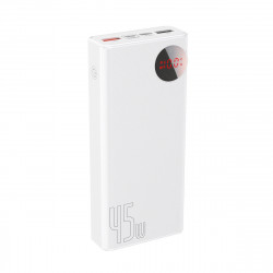 Powerbank 20000mAh cu display Baseus Mulight 2x USB, QC 3.0, PD, 45W (alb)