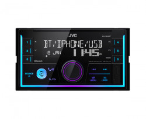 Receptor audio digital cu Bluetooth, format 2DIN, JVC KWX830BT