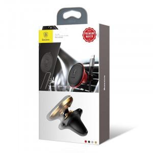 Suport magnetic auto pt ventilatie Baseus Magnetic Air Vent (auriu)