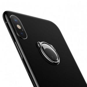 Suport telefon cu inel Baseus Bear pt selfie (negru)